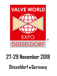 Logo and date of the Valve World Expo in Düsseldorf 2018